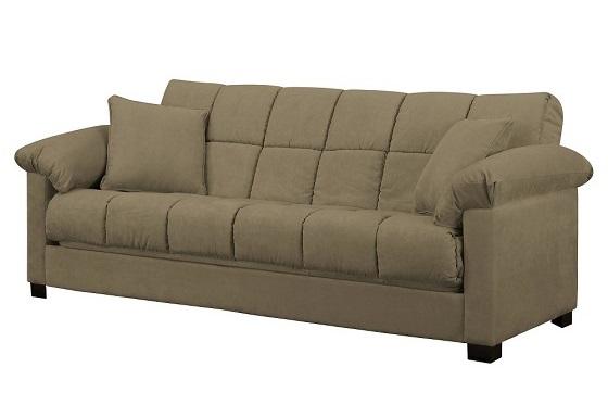 Maurice Microfiber Pillow Top Arm Convert A Couch Futon Sofa Sleeper